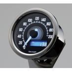 【セール特価】VELONA 電気式スピードメーター 200km/h バフボディー ブラックパネル/ホワイトLED DAYTONA(デイトナ)