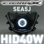 シグナスX(CYGNUS-X)4型 SEA5J  魚眼ヘッドライト PVCイカリング白 HID40W 6000K コンプリートキット GAMMAS