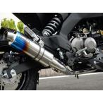 Z125 PRO(プロ) ショートオーバル チタンマフラー 焼き色タイプ フルエキゾースト JMCA認定 WR'S(ダブルアールズ)