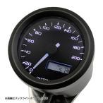 【セール特価】VELONA 電気式スピードメーター Φ48(非接触センサー無し) 200km/h ブラック/3色LED DAYTONA(デイトナ)
