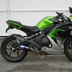 Ninja400(ニンジャ)EBL-EX400E フルエキゾーストマフラー ラウンドタイプ 焼き色チタン JMCA認証 WR'S(ダブルアールズ)
