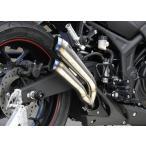 YZF-R25 ツインチタンメガホン スリップオンマフラー OVER(オーバーレーシング)