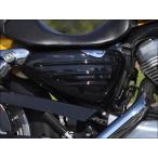 スポーツスターXL883/1200(04年〜) ティーラ サイドカバー 艶ありブラック塗装 CHIC DESIGN(シックデザイン)