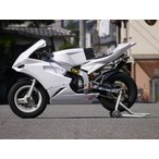 NSR50・NSR80 ミニガーレ  3点キット(フルカウル/シングルシート/タンクカバー) レース ビス止めver. (白ゲル) 才谷屋(サイタニヤファクトリー)