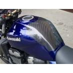 ZRX1200 DAEG(ダエグ) タンクプロテクター カーボン綾織 CLEVER WOLF RACING(クレバーウルフレーシング)