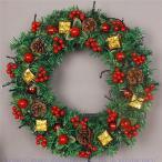 クリスマスリース クリスマス飾り 60cm クリスマスツリー オーナメント ナチュラル ドアリース 玄関 庭園 部屋 壁飾り ガーランド 松かさ おしゃれ 新年飾り