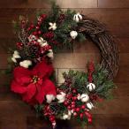 クリスマス花輪 クリスマスリース 30cm ドアリース ドア店舗 玄関 庭園 部屋 壁飾り ガーランド バラ 人工造花 飾り デラックスリース 北欧風 ピンク
