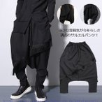 サルエルパンツ ロングパンツ デザインパンツ メンズ ゆったり 体型カバー エスニック調 原宿系 ストリート系 ファッション 2020年冬新作