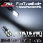 T10 LED ウェッジ球 ホワイト キャンセラー内蔵 フラット 2面 3014SMD 24連 2個 BMW ベンツ アウディ VW などの輸入車に 条件付 送料無料 _22381