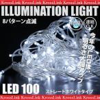 クリスマス イルミネーション LED 5M 100球 ストレート 連結タイプ ホワイト 白 チューブライト ロープライト       _76086