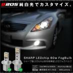H1 H3 フォグランプ LED バルブ 60W 6000K 600Lm SHARP製チップ採用 2個 フォグライト バルブ ホワイト 白 条件付 送料無料 _@a782