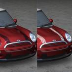 MINI(ミニ) R50/R52 ONE/COOPER用 ボンネットストライプ チェッカー 全2色  「CLOS」クロス