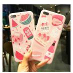 iPhone8 ケースiPhone8plus ケース ハングル文字入り 韓流 ピンク 薄型 可愛い iPhone7ケース iPhone7plus iPhoneXケース  ストラップホールケース