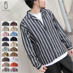 シャツ メンズ オープンカラーシャツ 開襟シャツ カジュアルシャツ 長袖 無地 ストライプ チェック 総柄 バティック グレンチェック ファッション (17110) D 2bh