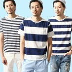 # Tシャツ メンズ カットソー 半袖 クルーネック ボーダー 送料無料 (br10141)