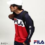 トレーナー プリント FILA メンズファッション
