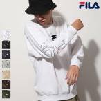 トレーナー メンズ スウェット クルーネック 長袖 裏起毛 袖プリント ワンポイント ロゴ FILA フィラ ファッション (fh7574)