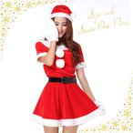 サンタ コスプレ レディース 大きいサイズ L XL クリスマス Christmas Xmas サンタクロース サンタ サンタコス コスチューム ワンピース 衣装