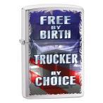Zippo ジッポー  Free by Birth, Trucker by Choice 29078 メール便可
