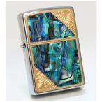 ZIPPO ウェスタンデザイン メタル貝貼り ゴールド 2GW-SHELL ジッポーライター