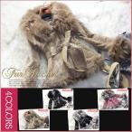 全4色 フォックスファー襟×ピッグスキン デザインジャケットコート osjkt13w004