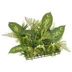 (造花 フェイクグリーン 人工観葉植物 人工芝 マット)ディーフェンバキアミックスリーフマット(GL62)