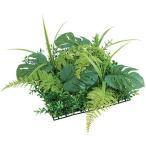 (壁面緑化 造花 フェイクグリーン 人工観葉植物) 25cmスプリットフィロミックスマット(DF34/19)