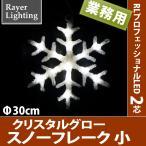(屋外 イルミネーションライト雪の結晶)クリスタルグロー スノーフレーク 小型(RL90)