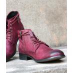ブーツ スエードつぶし加工ショートブーツ