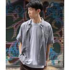 シャツ ブラウス 半袖ポプリンシャツ ブロードシャツ 無地 チェックシャツ