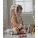 ベビー服 クリスマス もこもこロンパース