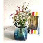 花瓶 enrich バンブーハンドルガラスベース グラデーション Sサイズ