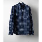 シャツ ブラウス 日本製ブロード水玉ボタンダウンシャツ(GW)