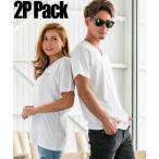 tシャツ Tシャツ 【Ed Hardy】2枚セット ドン・エドハーディー書下ろしワンポイントTシャツ(Vネック)