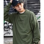 tシャツ Tシャツ KANGOL/カンゴール コラボ 別注ロゴ刺繍 L/S オーバーサイズカットソー 無地T トップス Tシャツ -2021S/S S