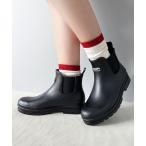 レインシューズ サイドゴアショートレインブーツレインシューズ(長靴)