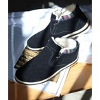 ブーツ [メンズ・レディスサイズ対応]ふわふわボアが暖かいダブルジップムートンブーツ