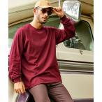 tシャツ Tシャツ GILDAN/ギルダン  オーバーサイズ クルーネックロングTシャツ / カットソー 長袖 ポケット ロンT