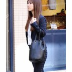 ショルダーバッグ バッグ カシュカシュ cachecache / パイソン レオパード カラー 丸底巾着バケツショルダーバッグ