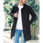 ステンカラーコート TR ストレッチ メンズ ステンカラー コート / バルカラー バルマカーン ロングコート メンズ アウター ビジネスコート 細身