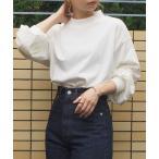 tシャツ Tシャツ [2021AW新色登場]モックネックボリューム袖ロンT