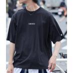 tシャツ Tシャツ ▽WEB限定 CONVERSE/コンバース 別注ロゴ刺繍 半袖 ビッグシルエットカットソー