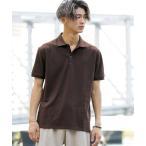 ポロシャツ サマー 鹿ノ子 / ワンポイント 刺繍 半袖 ポロシャツ