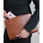 バッグ クラッチバッグ スプリットレザー L字ファスナー 持ち手ハンドル付 クラッチバッグ