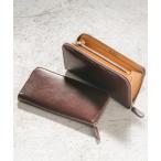 財布 イタリアンレザー YKKラウンドファスナー スキミング防止機能付き 長財布