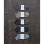 靴下 HARUSAKU CC  Men's Sneaker socks 5P set (A):メンズスニーカーソックス5Pセット
