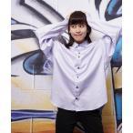 日本製ビッグシルエットデザインレギュラーカラーシャツ ムジ  チェック 水玉 ドット(GW)