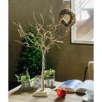 インテリア クリスマス LEDブランチツリー Sサイズ 65cm リモコン付 ブラウン/ホワイト/ゴールド