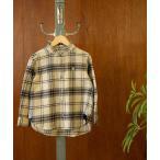 【coen キッズ / ジュニア】インディアンコットンネルバンドカラーシャツ(ネルシャツ・チェックシャツ)