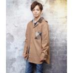 ビッグロングシルエットフードデザインフランネルシャツ(GW)